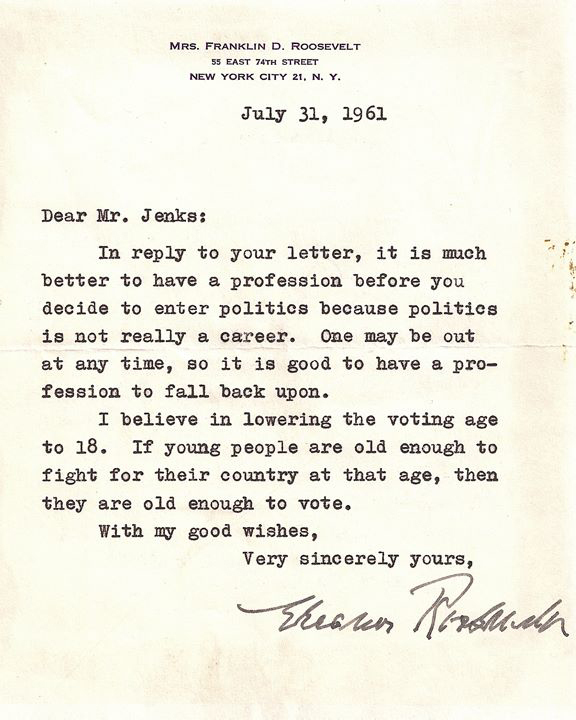 Eleanor Roosevelt Made the Greatest Generation Great