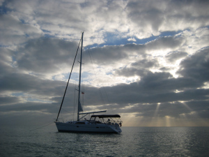 Anchoring out at Sale (not Sail) Cay